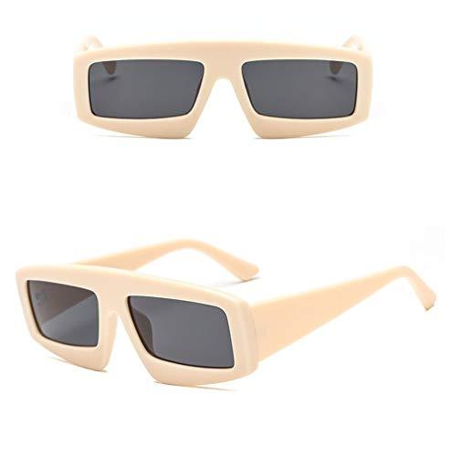 Wang-RX Art- und Weiseretro- Weinlese-Frauen-Quadrat-Sonnenbrille-freie Objektiv-Sonnenbrille für weibliches Uv400