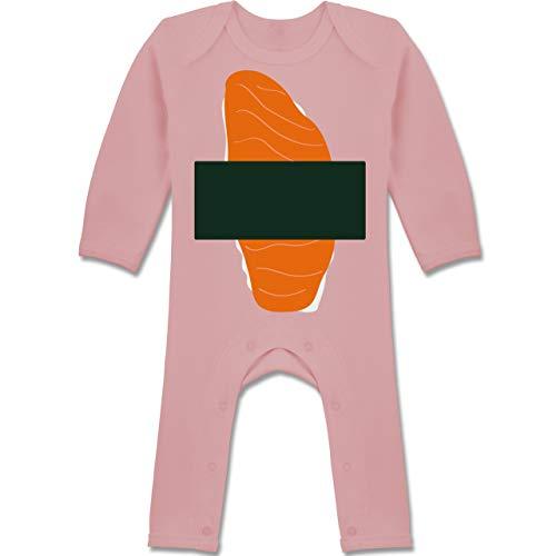 Shirtracer Karneval und Fasching Baby - Sushi Kostüm - 12-18 Monate - Babyrosa - BZ13 - Baby-Body Langarm für Jungen und Mädchen (Sushi Kostüm Mädchen)