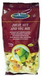 Johnston & Jeff Mélange de fruits, noix et légumes pour oiseaux 700 g