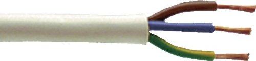 Preisvergleich Produktbild H&G Kupfer Litze 3 X 0,75 5m Weiss