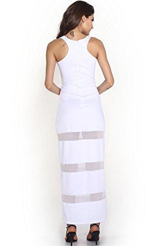 Dissa® femme Blanc SY6324 longue Robe Blanc