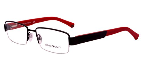 Emporio Armani Rectangular Sunglasses (Black) (EA501BL52) image