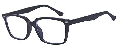 Outray Blaues Licht blockieren Brille Vintage Nerd Square Keyhole Design Brillen Rahmen für Frauen Männer Mattschwarz