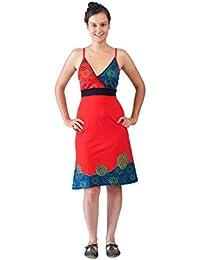 Slip robe de femmes Avec colorés Mandala Dotted Broderie