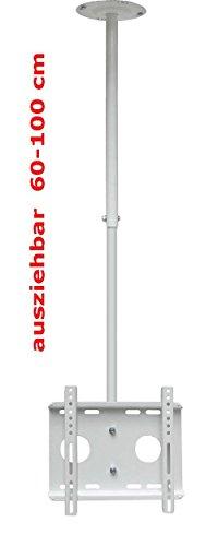 TV deckenh vieillissement toit Support mural obliques et de support mural (Blanc) extensible inclinable rotatif 360 ° à 42 pouces (106 cm) avec VESA (50 x 50 mm à 200 x 200)