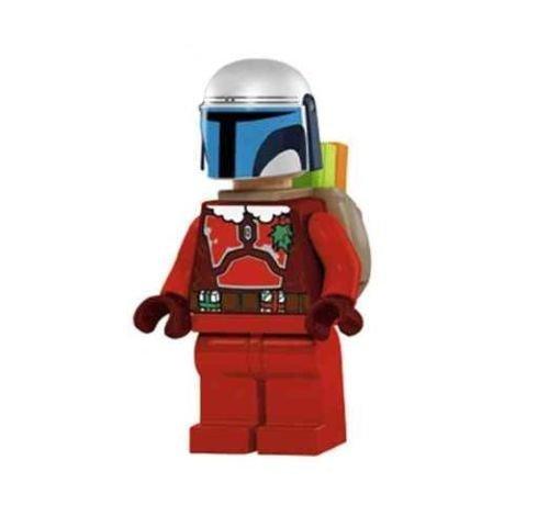 LEGO Star Wars - Minifigur Jango Fett mit Weihnachtsmann Kleidung