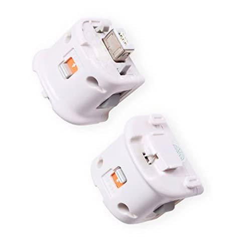 Dcolor 2 x Motion Plus Adapter Sensor fuer Nintendo Wii Remote Controller weiss