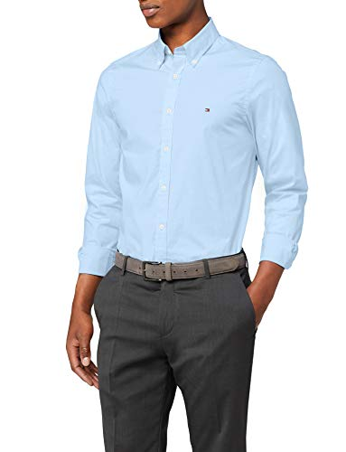 Tommy Hilfiger Herren CORE Stretch Slim POPLIN Shirt Freizeithemd, Blau Blue 474, X-Large