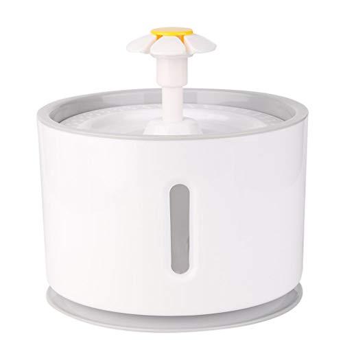Wokee Haustier Automatischer,Wasserspender,PBA frei,2.4L,LED Licht Zufuhr Elektrischer Wasser Brunnen,Hund Schüssel