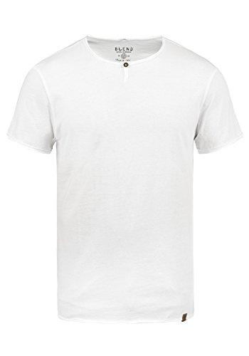 Blend V-neck T-shirt (Blend Ireto Herren T-Shirt Kurzarm Shirt Mit Rundhalsausschnitt, Größe:XL, Farbe:Offwhite (70005))