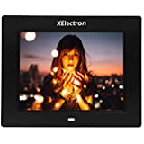 XElectron® DPF805 8 inch LED Digital Photo Frame/Video Frame with 1280×720, 720P Support Resolution, Plays Images, Video & Music, USB/SD Card Slot, with Remote (Black)