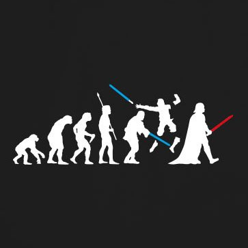 Dark Side Evolution - Herren T-Shirt Dunkelblau