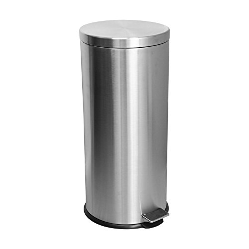 Harbour Housewares 30 Litre Kitchen Pedal Bin - Matt Steel