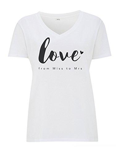 Constant Love Damen T-Shirt Braut Love from Miss to Mrs Junggesellen Abschied Flitterwochen Hochzeit...
