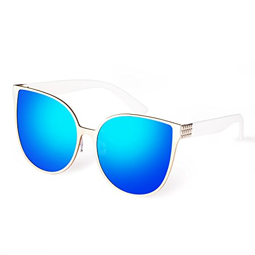 Smileyes TSGL002 Gafas De Sol Moda Ostentoso Con AC Lente UV400 Para Mujer (azul)