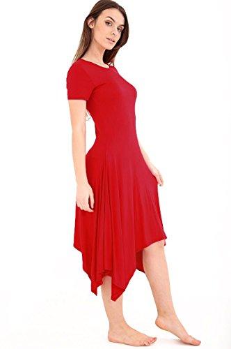 SugerDiva Womens Long Hanky dress Du vin