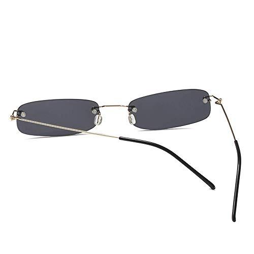GCCI Sommer Mode Sonnenbrillen Schmale Sonnenbrillen Herren Sattel, Sommer Rot Blau Schwarz Rechteckig, Sonnenbrille für Damen Kleine Gesichtsform Persönlichkeit
