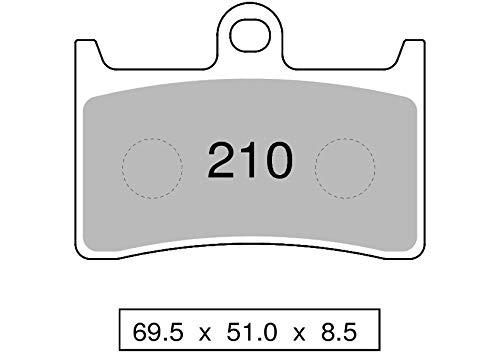 COPPIA PASTIGLIE FRENO TROFEO ORGANICHE per YAMAHA 43021000 per Moto e/o Scooter (vedi elenco applicazioni nella descrizione prodotto)