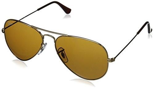 Preisvergleich Produktbild Ray Ban Unisex Sonnenbrille Aviator, Gr. Large (Herstellergröße: 55), Gold (gold 001/33)