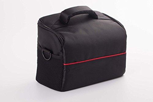 Galleria fotografica vhbw XL Borsa universale nero rosso per Fotocamera digitale, Videocamera Sony FDR-AX33, FDR-AXP33, HDR-CX405, HDR-CX450, HDR-CX625, HDR-CX900