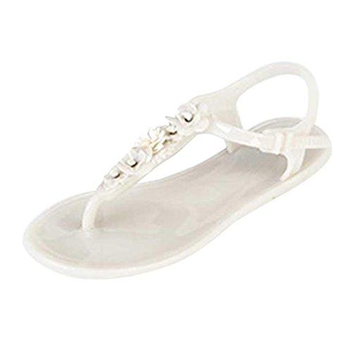 Beauty-luo sandali donna estive,sandali donna bassi ,scarpe da spiaggia per donna,pantofole da donna flip flops da spiaggia, moda, bluse, estate, donne piatte (5, bianco)
