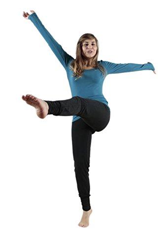 Leela Cotton Damen Freizeit, Yoga Hose Bio-Baumwolle (S, Schwarz) (Damen-yoga-hose Schwarze)