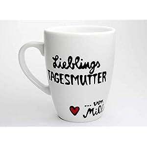 Geschenk für Tagesmutter, Tasse für die Lieblings-Tagesmutter, personalisierbare Tasse mit Namen, Lieblings-Tagesmutter Kaffeebecher