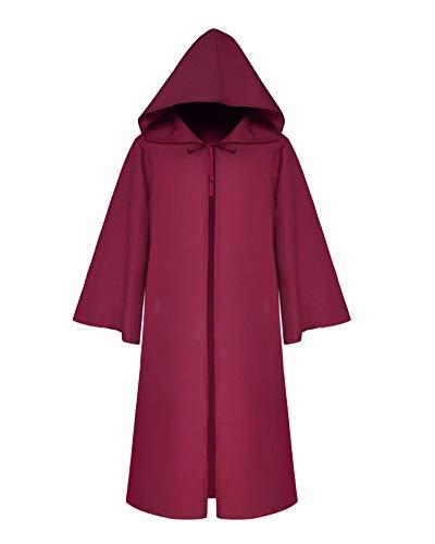 Bambini mantello cappuccio costume di halloween felpa con cappuccio cappotto rosso l