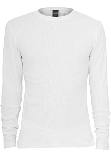 Urban Classics Thermal Tee L/S Longsleeve weiß white, S (Sleeve Tee Long Thermal)