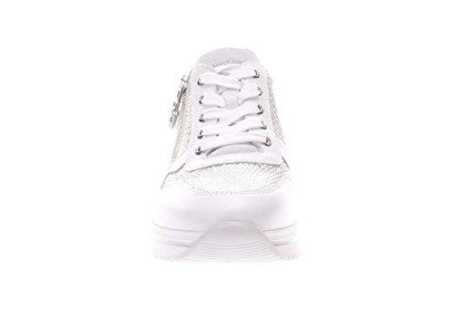 Nero Giardini Donna Sneaker P805244D 707 Sneaker in Pelle con Strass Bianco