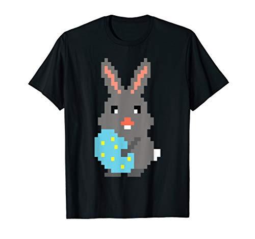 Oster T-Shirt Pixel Osterhase Retro Gamer Geschenk Kinder