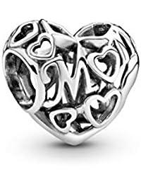 Pandora 791519 - Charm da donna Loving Mom, aperto, lavorato in argento 925