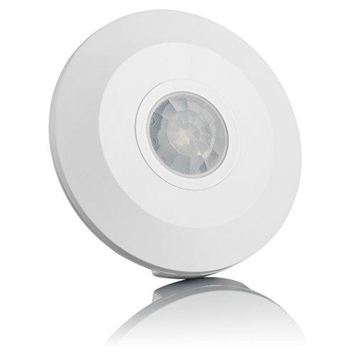 SEBSON® Bewegungsmelder Innen, Aufputz, Decken-Montage, programmierbar, Infrarot Sensor, Reichweite 6m / 360°, Bewegungssensor LED-geeignet