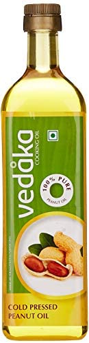 Amazon Brand - Vedaka Cold Pressed Peanut (Groundnut) Oil Bottle, 1L