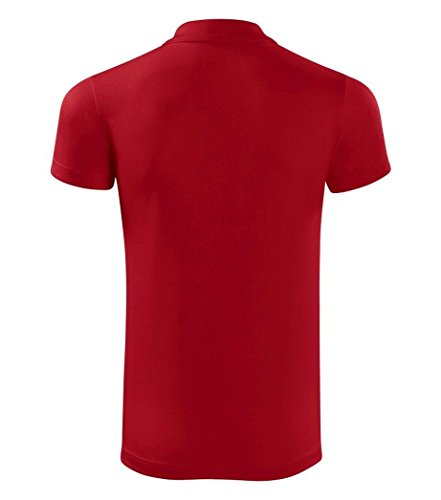 Dress-O-Mat - Polo - Uni - Manches Courtes - Femme Rouge - Rouge