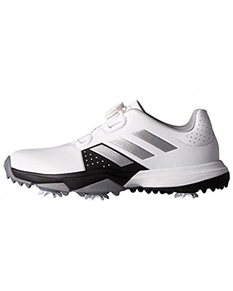 adidas Unisex-Kinder Jr. Adipower Boa Golfschuhe Weiß (White/Silver Metallic/Core Black) 37 1/3 EU