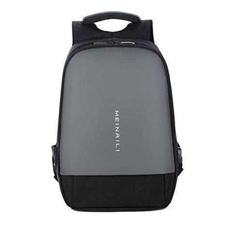 HUILIU Sportrucksack Qualität Laptop Rucksack wasserdicht Anti-Diebstahl-Männer USB Refill Print Rucksack Taschen - Print Refill