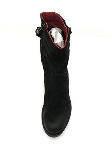 Buffalo robusti STIVALI SCARPE di cuoio Stivali di pelle Stivale da motociclista 30611 Preto