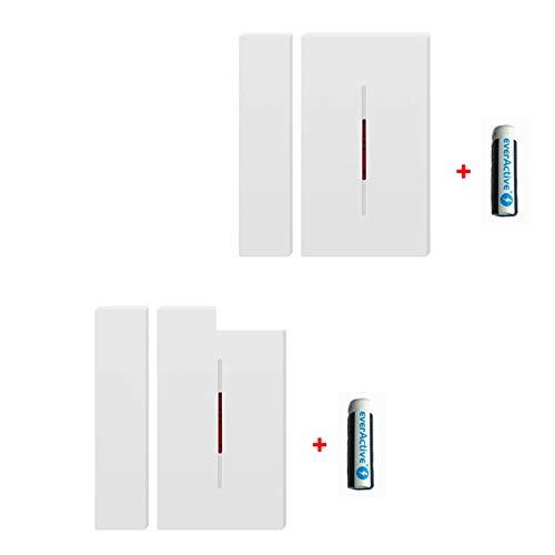 Sonoff Sonoff DW1 433 Mhz - Sensor de alarma inalámbrico antirrobo para  puerta y ventana para sistema de alarma de seguridad de automatización
