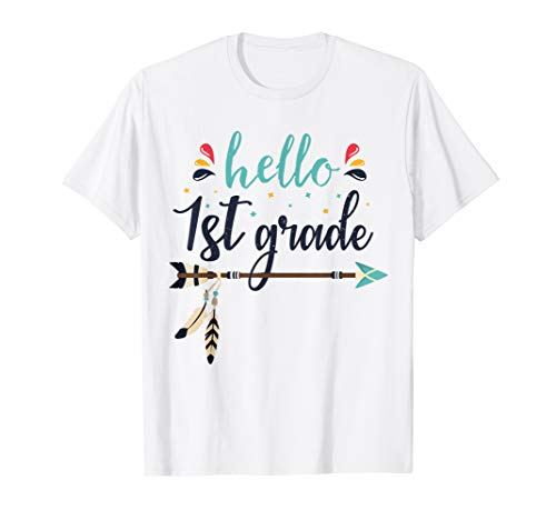 Zu Zurück Kostüm Schule - Hello 1st Grade Lehrer zurück zum ersten Schultag T-Shirt