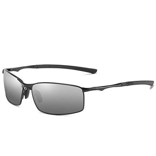 AAMOUSE Sonnenbrillen Design Square Sonnenbrillen Herren Polarisierte Gläser Fahrspiegel Chameleon Sonnenbrille Photochromismus Nachtsichtbrille