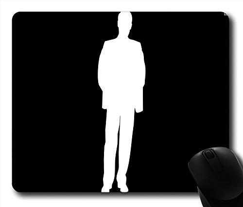 Vector Mann in Anzug mit Hände in seiner Tasche rutschfeste Gummi Gaming Mauspad Größe 22,9cm (220mm) X 17,8cm (180mm) X 1/8(3mm) (3mm Anzüge Für Männer)