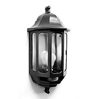 ASD HL/BK060P Half Lantern External Light with PIR Security Switch (Black)