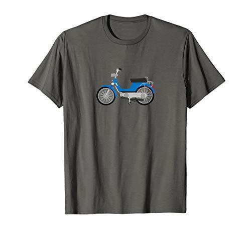 Herren T-Shirt Boxer Mofa Roller Biker Bravo Motorrad Moped 80er (Bravo Roller)