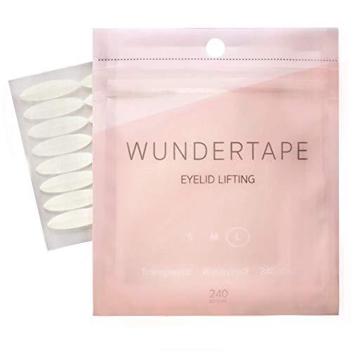 Schlupflider Stripes WUNDERTAPE® (240 Stück | Größe L) Schlupflid-Tape Streifen zum Augenlid-Lifting ohne OP! (wasserfest, 24h Halt, double eyelid lifting tapes) Augenlid-Tape