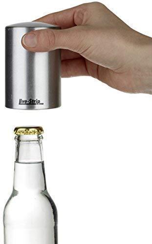 318Xi7rhFOL - Live-Strip Flaschenöffner, Push & Pull Kapselheber aus Edelstahl, Bottle-Opener, Bieröffner, witziges Grillzubehör & Küchenhelfer, lustiges Geschenk für Männer