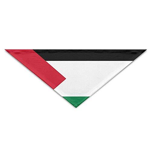 Rghkjlp Palästinensische Flagge Bandana Dreieck Halstuch Lätzchen Schals für Hunde & Katzen