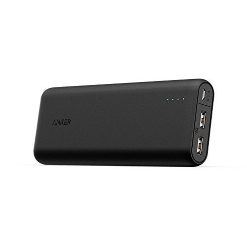 Anker PowerCore 20100mAh Caricabatterie Portatile 2 porte USB Ultra Compatto, Nero