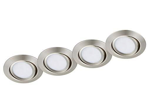 Trio Inkl. 4 LED-Leuchtmittel E14, 6 W, 4x470 lm, Warmweiß (3.000 K)