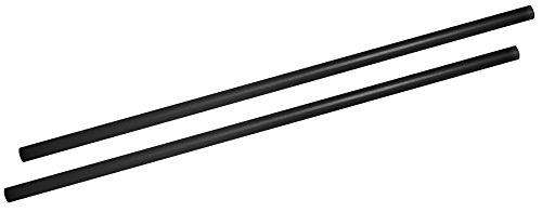 FACKELMANN Jumbotrinkhalme, Strohhalme aus Kunststoff, Trinkhalme in Übergröße (Farbe: Schwarz), Menge: 500 Stück